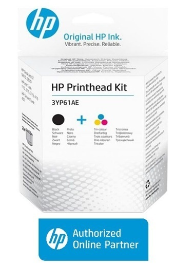 HP HP 3YP61AE TRI COLOR/BLACK GT PRİNTHEAD KIT Renkli